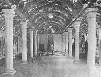 Maha Bodhi Society - Interior of the Dharmarajika Chetiya Vihara of the Mahabodhi Society, officially opened 26th Nov 1920.