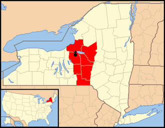 Roman Catholic Diocese of Syracuse - Image: Diocese of Syracuse in New York map 1