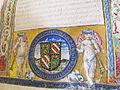 Diodoro siculo, historiae, manoscritto S.XXIL.1, 1450 ca. 02 stemma malatestiano.JPG
