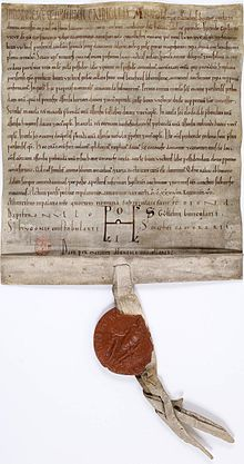 acte manuscrit de Louis VII (1138)