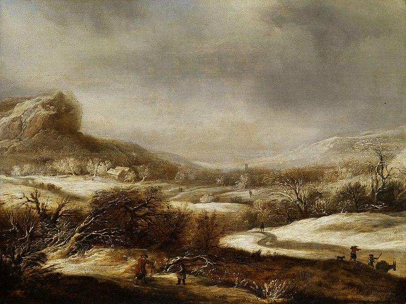 File:Dirck Dircksz. Santvoort (toegeschreven) - Winterlandschap met figuren.jpg