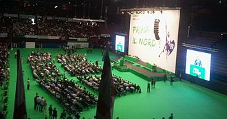 Lega Nord - Roberto Maroni speaks at the federal congress in Milan, 1 July 2012