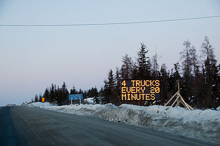 The dispatch point for the Tibbitt to Contwoyto Winter Road Dispatch point Yellowknife.jpg