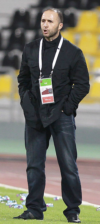 Djamel Belmadi - Belmadi coaching Lekhwiya in a Qatar Stars League match against Al Sadd