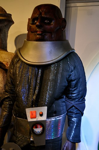 The Time Warrior - The Sontarans debuted in this serial, as shown here at the Doctor Who Experience.