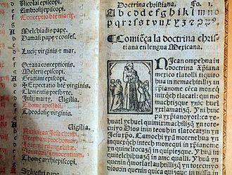Pedro de Gante - The 1553 manuscript of Doctrina Christiana by Pedro de Gante kept at Benson Latin American Collection, University of Texas, Austin