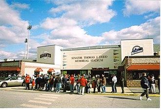 Senator Thomas J. Dodd Memorial Stadium - Image: Dodd Stadium front