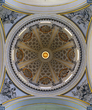 Castel Gandolfo - Cupola of Bernini's parish church.