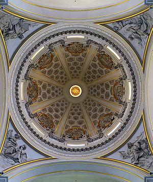 Castel Gandolfo - Cupola of Bernini's parish church.