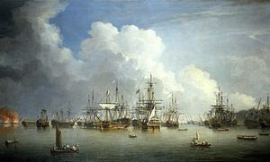 Dominic Serres the Elder - The Captured Spanish Fleet at Havana, August-September 1762.jpg