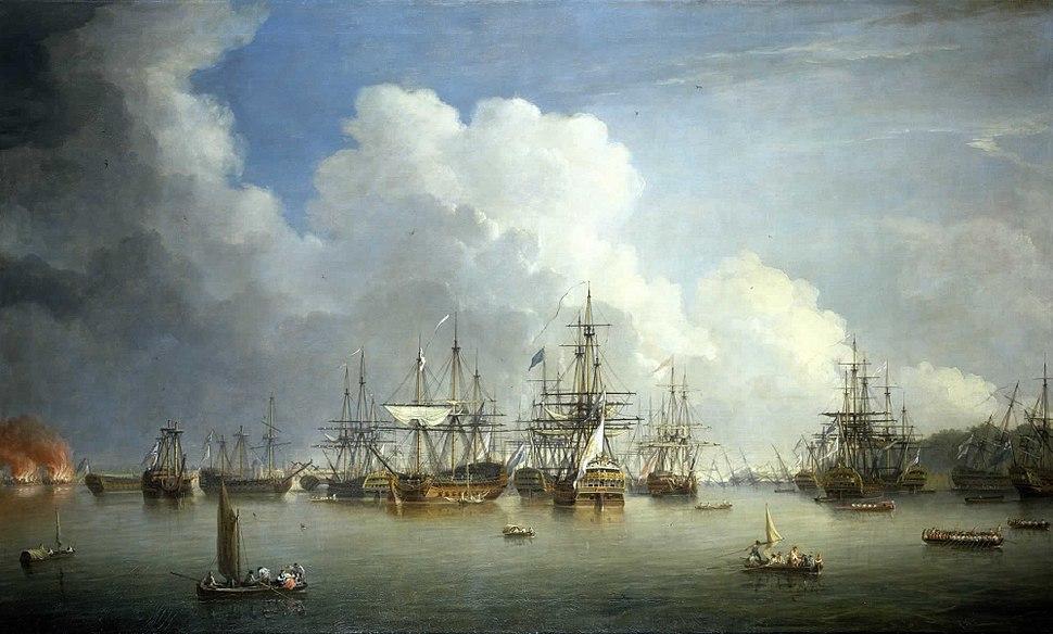Dominic Serres the Elder - The Captured Spanish Fleet at Havana, August-September 1762