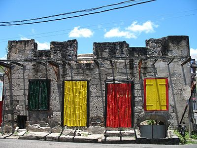 In Dominica a lot of people express themselves with colors, hence this colorful