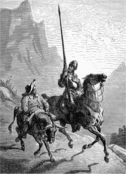 don quixote  don quixote de la mancha and sancho panza 1863 by gustave dore