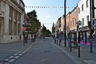 The High Street in Doncaster town centre. Doncaster Town Center.JPG