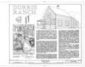 Dorris Ranch, 201 Dorris Street, Springfield, Lane County, OR HABS ORE,20-SPRIF,1- (sheet 1 of 16).png
