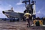 Douglas A-3B Skywarrior of VAH-4 aboard USS Hancock (CVA-19), in 1963.jpg