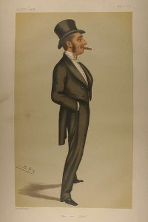 "Douglas Straight - ""the new Judge"" As depicted by ""Spy"" (Leslie Ward) in Vanity Fair, May 1879"