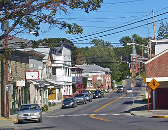 Philmont, New York - Downtown Philmont, looking east along NY 217
