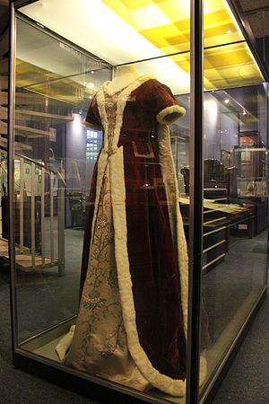 Georgiana Rolls, Baroness Llangattock - A dress owned by Lady Llangattock at Monmouth Museum