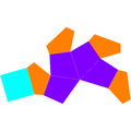 Dual gyroelongated square pyramid net.png