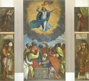"""Dubrovnik Cathedral - Triptych of """"Ascension of Mary"""" by Titian (circa 1550)"""