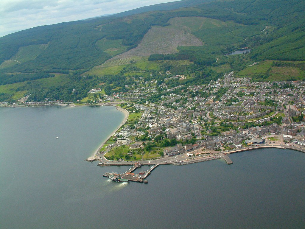 Dunoon from above the Firth of Clyde - geograph.org.uk - 1143850