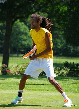 Dustin Brown (tennis) - Brown at the Boodles Challenge in 2010
