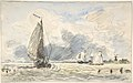 Dutch Fishing Boats, Verso- Sketches of Boats MET DP800439.jpg