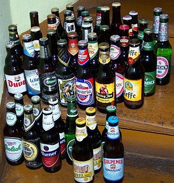 English: Not only Dutch beers! Belgian (Afflig...