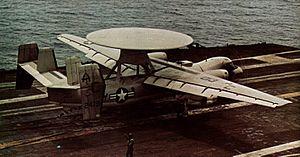VAW-123 - Image: E 2B VAW 123 landing on USS Saratoga (CVA 60) c 1972