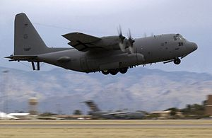 EC-130H 41st EWS taking off Davis-Monthan AFB 2007.jpg