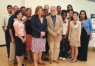 Theatre Development Fund - Wendy Wasserstein and Harold Prince at Open Doors Graduation