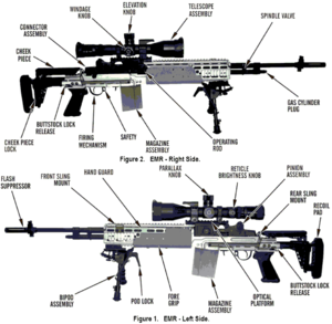 M39 Enhanced Marksman Rifle - Component view of an EMR