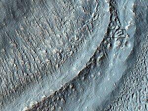Promethei Terra - Image: ESP 020319flowsclose up