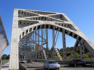 Phillipsburg, New Jersey - The Easton–Phillipsburg Toll Bridge connects Phillipsburg with Easton, Pennsylvania.