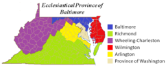 Ecclesiastical Province of Baltimore map.png