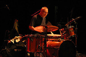 Eddie Prévost playing at Avanto Festival, Glor...