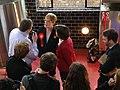 Eddie Izzard and Sarah Sackman at The Bohemia, North Finchley, April 2015 03.jpg