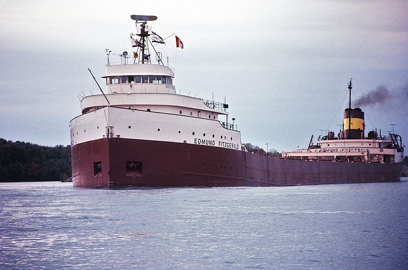 Edmund Fitzgerald in 1971, by Greenmars, CC 3.0