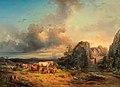 Edmund Mahlknecht Tiere in Landschaft 1854.jpg