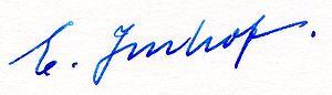 Eduard Imhof - Eduard Imhof's signature