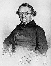 Eduard Mörike, Lithografie von Bonaventura Weiß, 1851 (Quelle: Wikimedia)