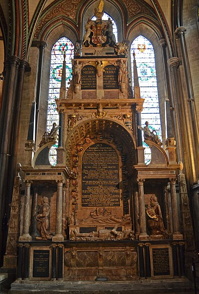 Monument in Salisbury Cathedral, Wiltshire, to Edward Seymour, 1st Earl of Hertford EdwardSeymour 1stEarlOfHertford Died1621 SalisburyCathedral.jpg