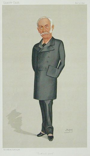 "Sir Edward Bradford, 1st Baronet - ""Scotland Yard"" Bradford as caricatured by Spy (Leslie Ward) in Vanity Fair, November 1890"