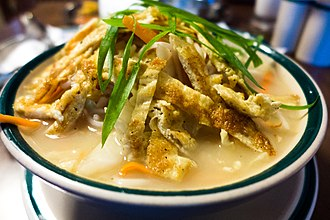 Thukpa - Image: Egg Thukpa Noodles served in soup (8903437478)