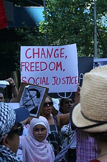 Social justice Concept of fair and just relations between the individual and society