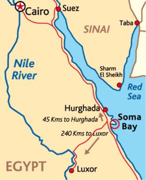 Soma Bay - Image: Egyptmap L