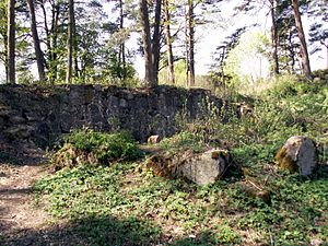 Eišiškės - What remains of the Eišiškės Castle today