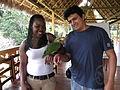 El Coca Ecuador, animales conviven con los nativos.jpg