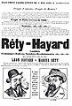 Elections législatives du 8 mai 1898 (IIe arrondissement). Marius Rety–Léon Hayard, candidats économiques radicaux socialistes révolutionnaires.jpeg